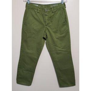 Gap 1969 Slim Straight Crop Pants